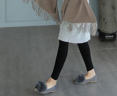 [OSA340OJN_N] Rex fur mink fur bowknot Loafers