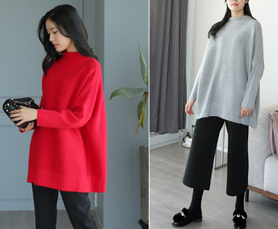 [KKN34OJN_N] system temik half and consequently loose knit