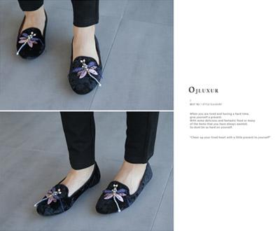 [OSA342OJN] Selina Butterfly Loafers