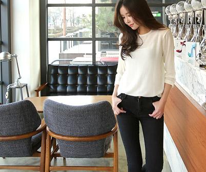 [MCTP07P72] Basic Wool Long Sleeve Tee