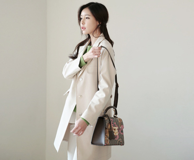 [IJK43KMHermp] back bijyo type jacket Trench Coat