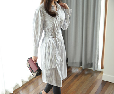 [LOP78P265] Timeless chic Shirt One Piece
