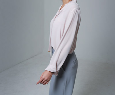 [LBL96P267 record] Eileen Tie Blouse points