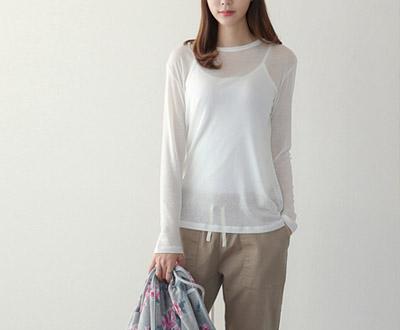 [MCTP28P86] Basic Round Long Sleeve Tee