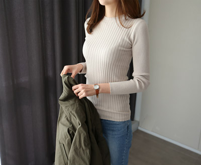 [KKN79P103] Basic Spring Cache touch knit