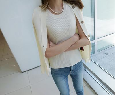 [KKN80MR] MER sleeveless knit or double disc
