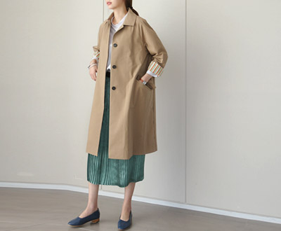 [ICO08GJ] Goose loose fit chic Trench