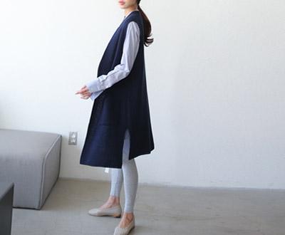 [EVT88D351] Anna's open-Long Vest