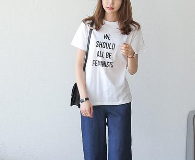 [MCTP47T10 D] Feminist Short Sleeves T-shirt