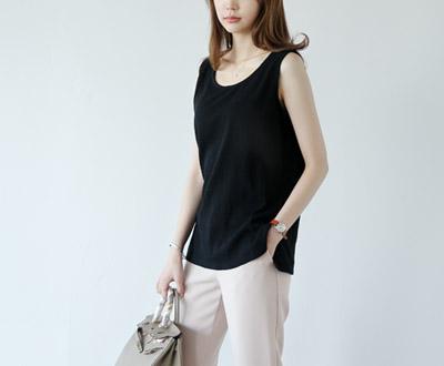[SLV58OJN] Scrub Linen Sleeveless shirts Blouse
