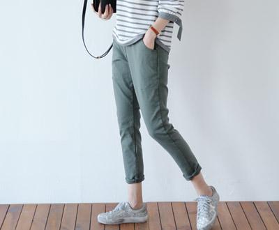 [NPT01D341] empty sheath exhaust cotton pants zipper half