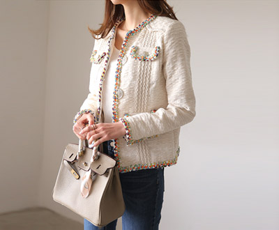 [IJK69OJN] Coco Lux Tweed Jacket.