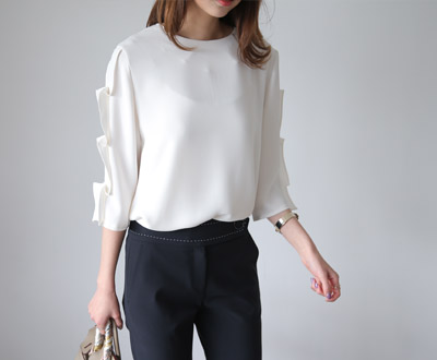 [MBL08P271] Coco Pearl Point Blouse