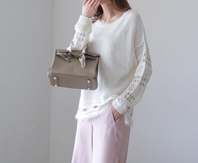 [KKN84OJN] Lynn White Cream Knit