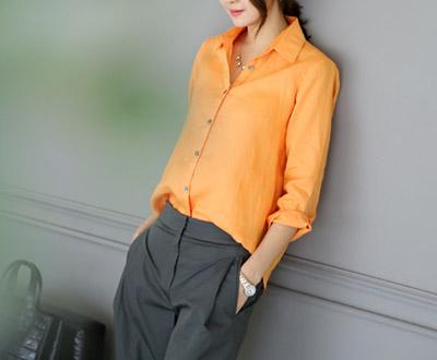 [FSH12OJ] boti linen ramie Shirt