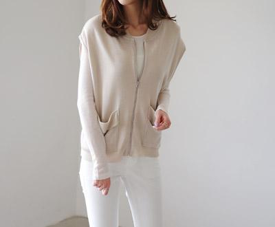 [EVT90P1D1] mime Ms line zipper Vest