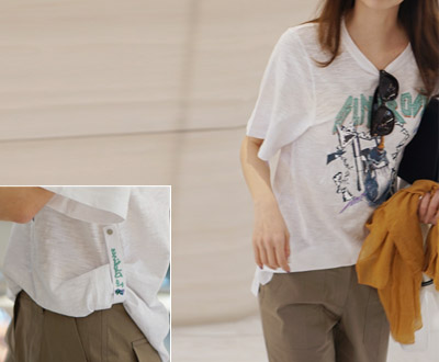 [MCTP65RC other] Revolution embroidered patch Short T shirts