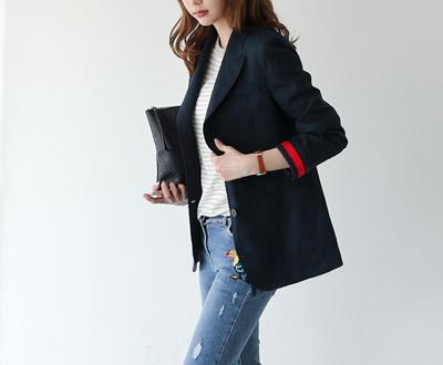 [IJK66PJ nine] taping key point Luxury Jacket