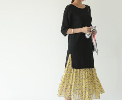 [KKN89OJN] Beige Long Knit teuim