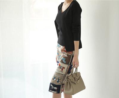 [HSK93P103] El cyano horse Skirt