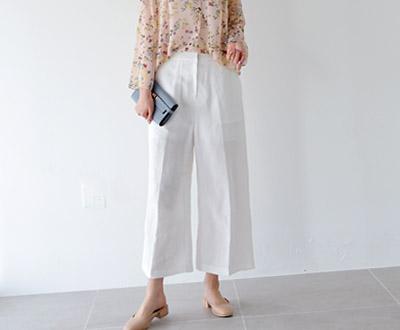 [NPT21P103] Deco Linen Pants Tong