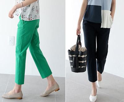 [NPT22LJ] 266 Greenwich simple Slim pants