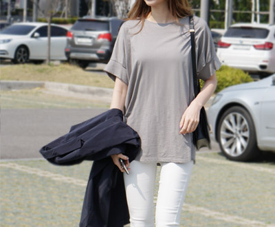 [MCTP73P454D other] Timeless Long Short T shirts