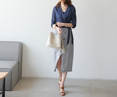 [MOP02OJN_N9] Anthica Linen One Piece