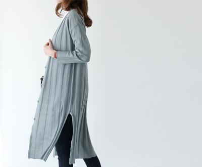 [JCD22P454D] Leeds Linen Long Cardigan