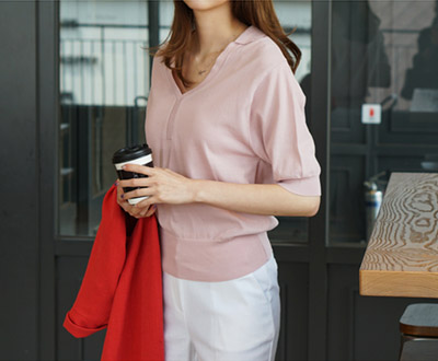 [KKN93P84 band; Mare V-neck Kara Knit
