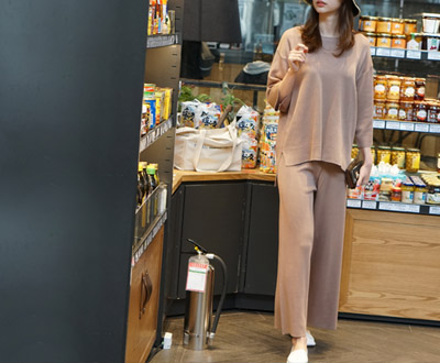 [KKN94P280 Cell] Selina Summer Knit + Pants set
